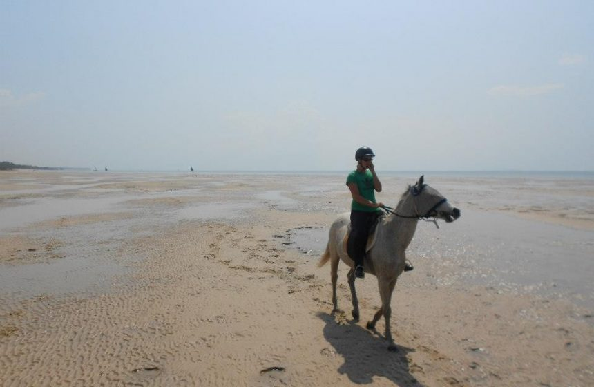 horseback riding on the beach, Mozambique