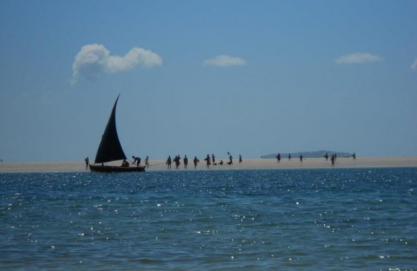 Fishing Dhow in the distance, Mozambique Safari