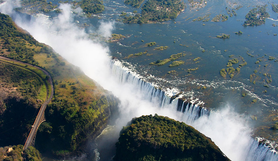 Airview over Victoria Falls Zimbabwe