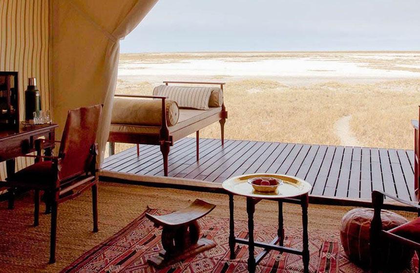 Botswana hut view
