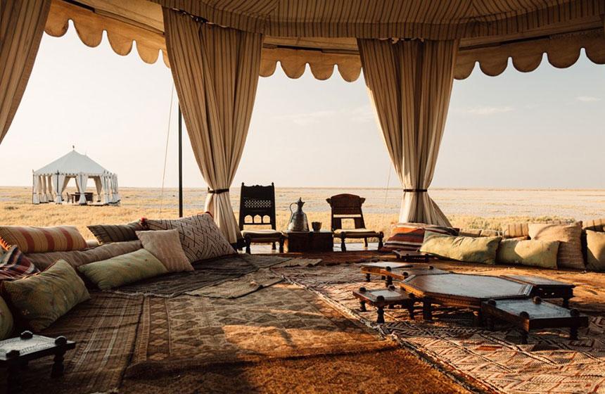 Open living room concept, Botswana