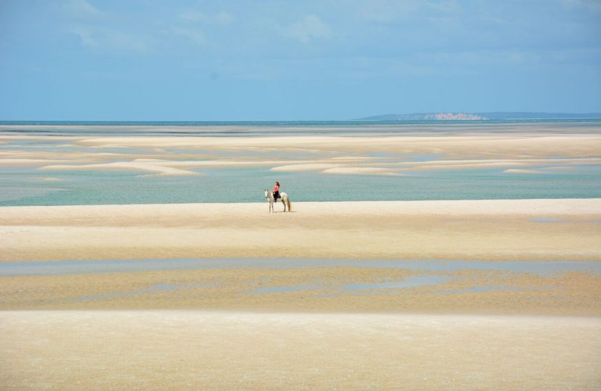 Horseback riding at low tide in the Indian Ocean, Escape to Africa Safaris