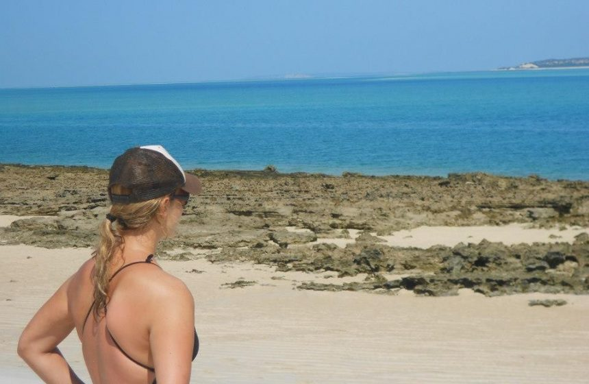 In front of the Indian Ocean, Mozambique