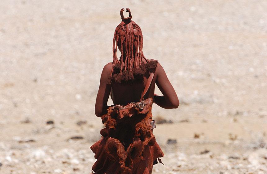 Namibian local in the desert